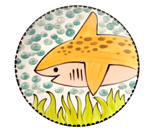 Walnut Creek Happy Shark Plate