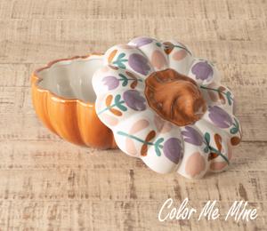 Walnut Creek Floral Pumpkin Box